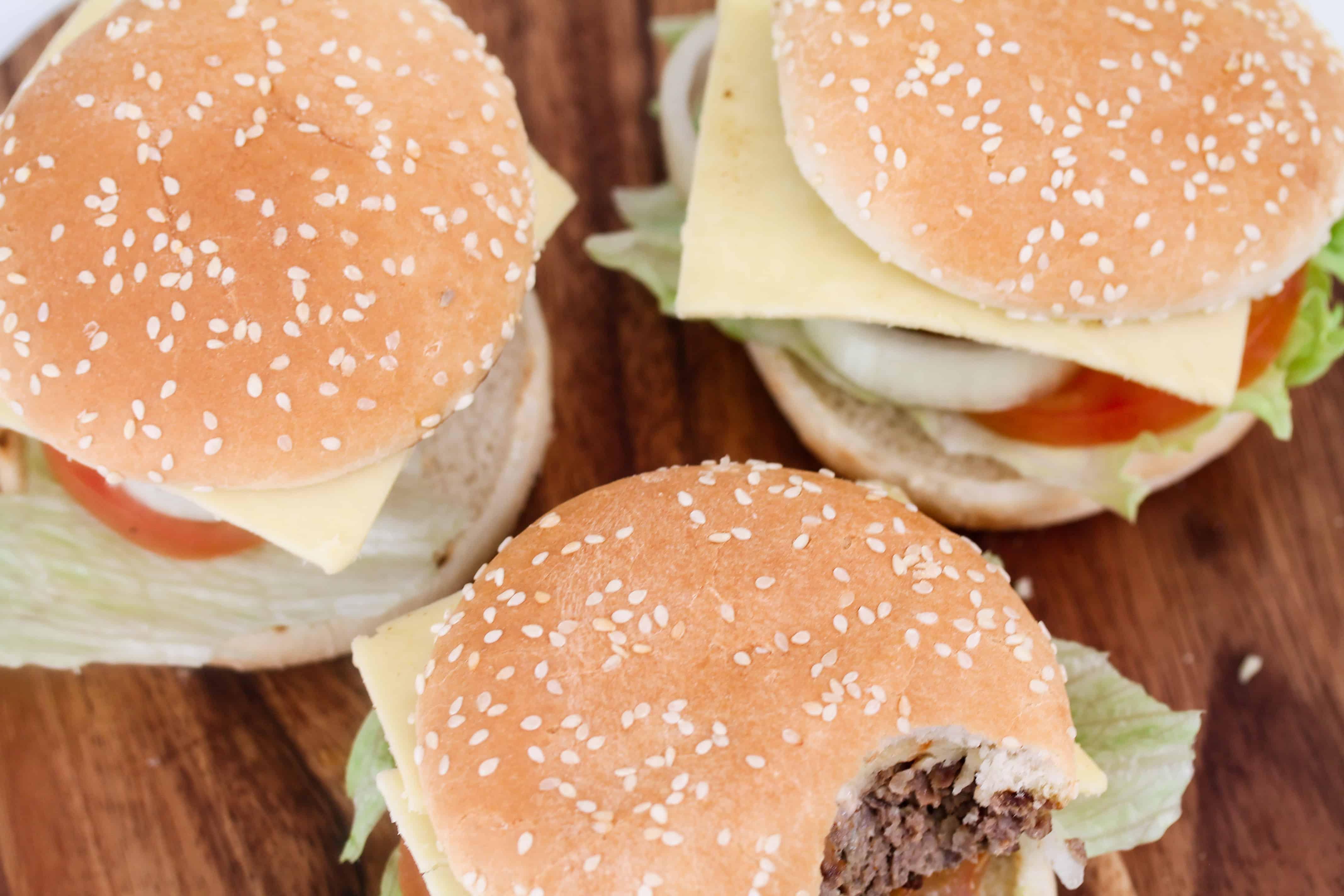 homemade cheese burgers