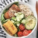 Salmon and Veggie Noodle Bowl