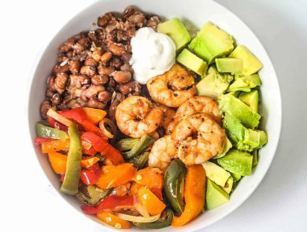 naked shrimp burrito in a bowl