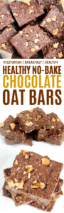 Healthy-No Bake-Chocolate-Oatmeal-Bars