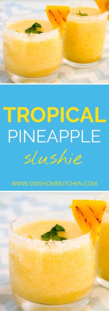 non-alcoholic tropical pineapple drink pin