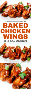 baked chicken wings in a bbq marinade