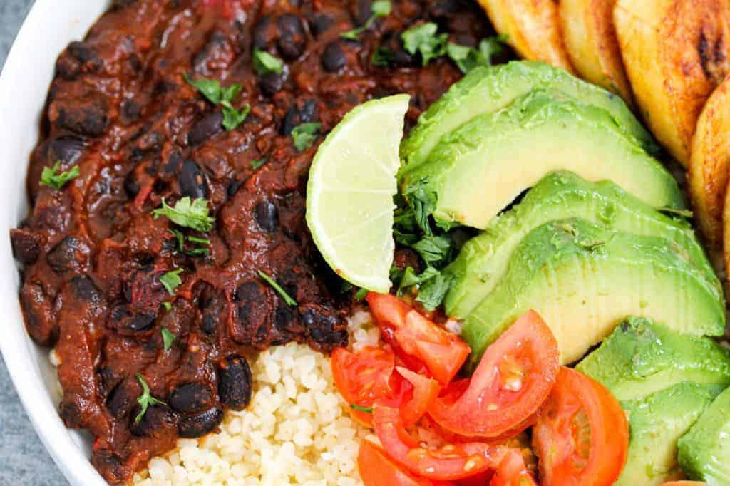 black-beans-bulgur-and-plantain-bowl