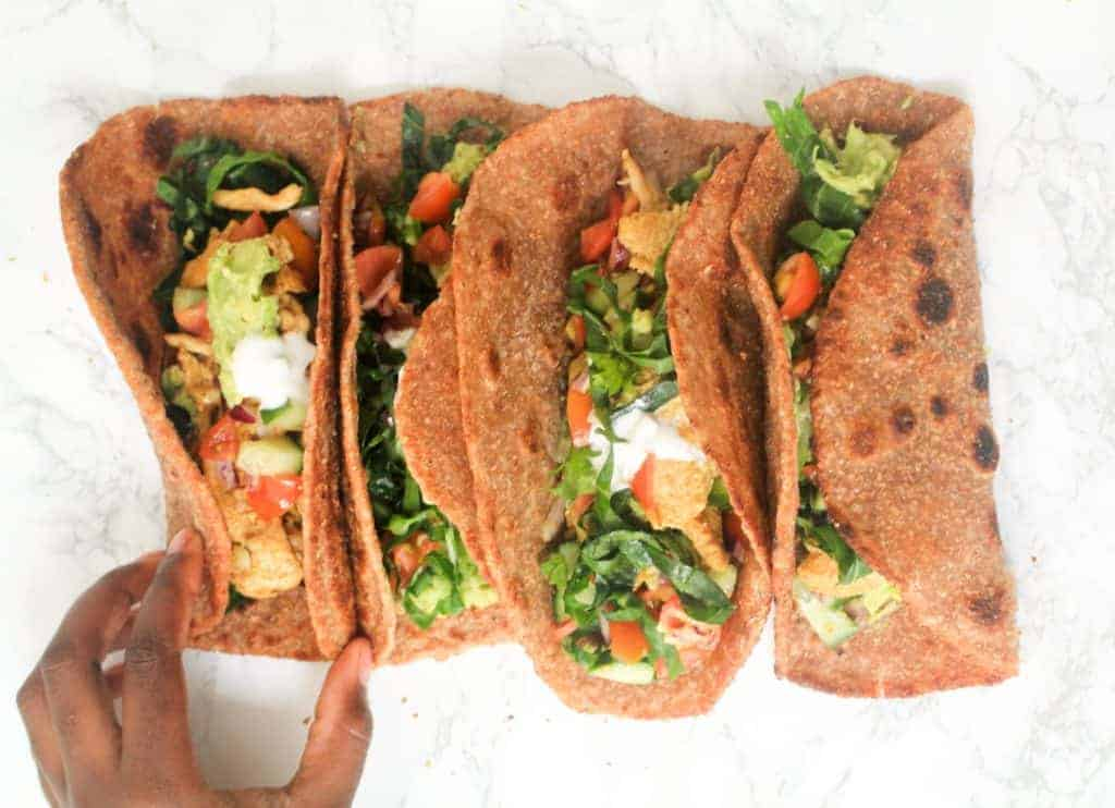 healthy-wholemeal-chicken-tacos a healthy lunch idea for meal prep