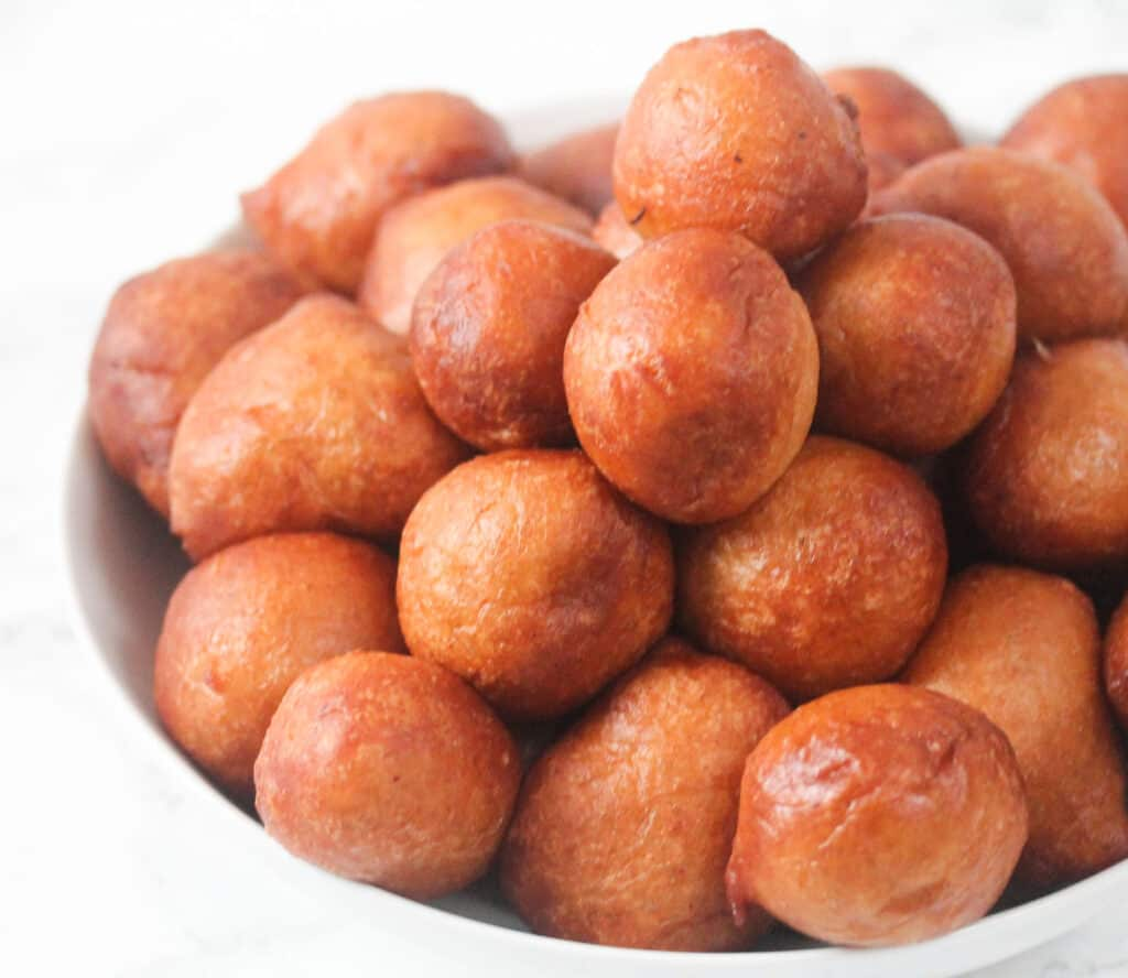 nigerian puff puff with pepper in a bowl