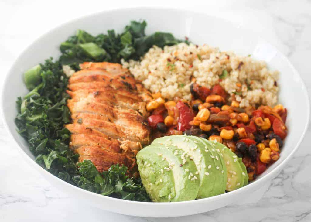 healthy-chicken-quinoa-vegetable-salad
