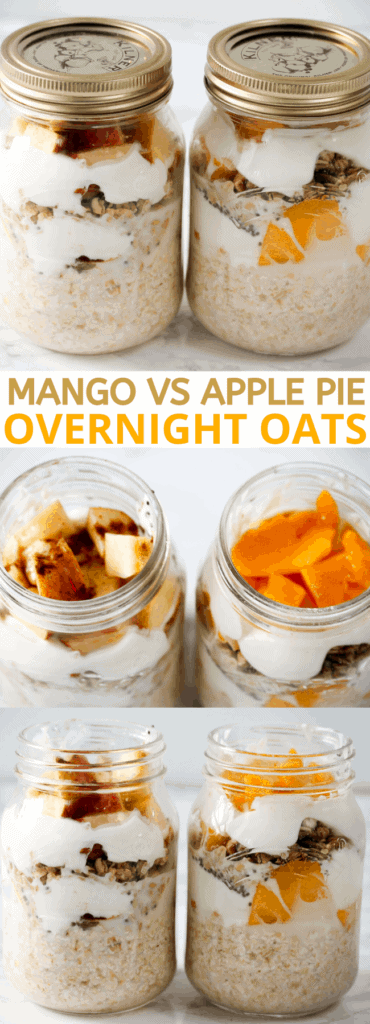 mango-vs-apple-pie-overnight-oats-breakfast-prep