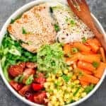 Noodle Bowl with Salmon and Veggies