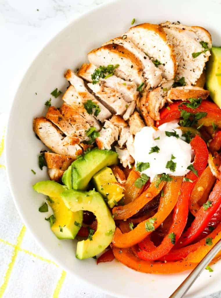quick-and-healthy-chicken-fajitas a healthy lunch idea for meal prep