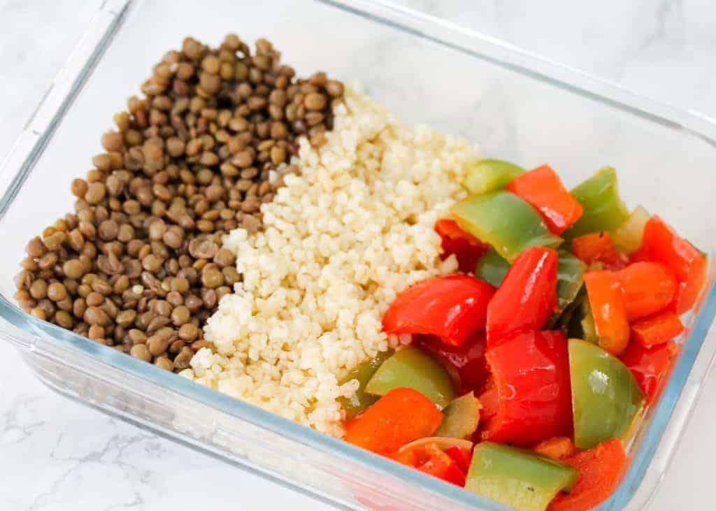 vegan-lentil-and-pepper-meal-prep