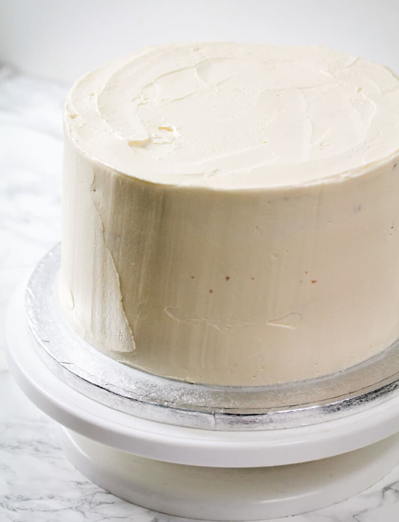 cake frosted with buttercream