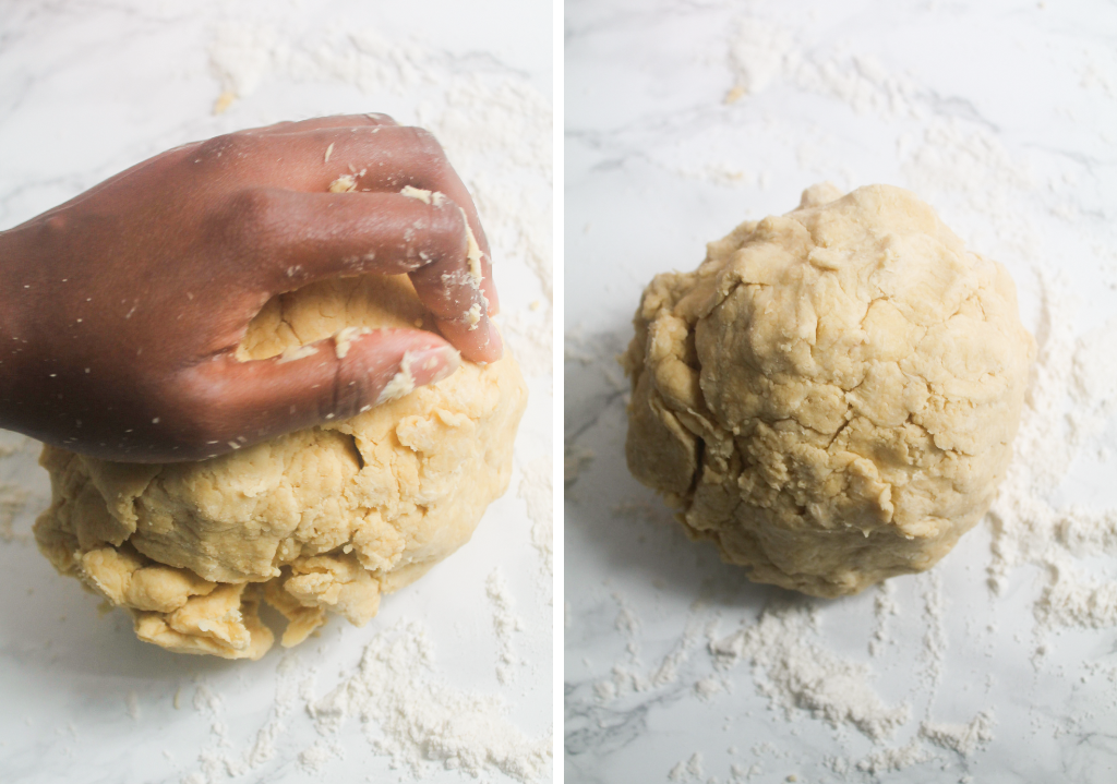 kneaded pastry for meat pie