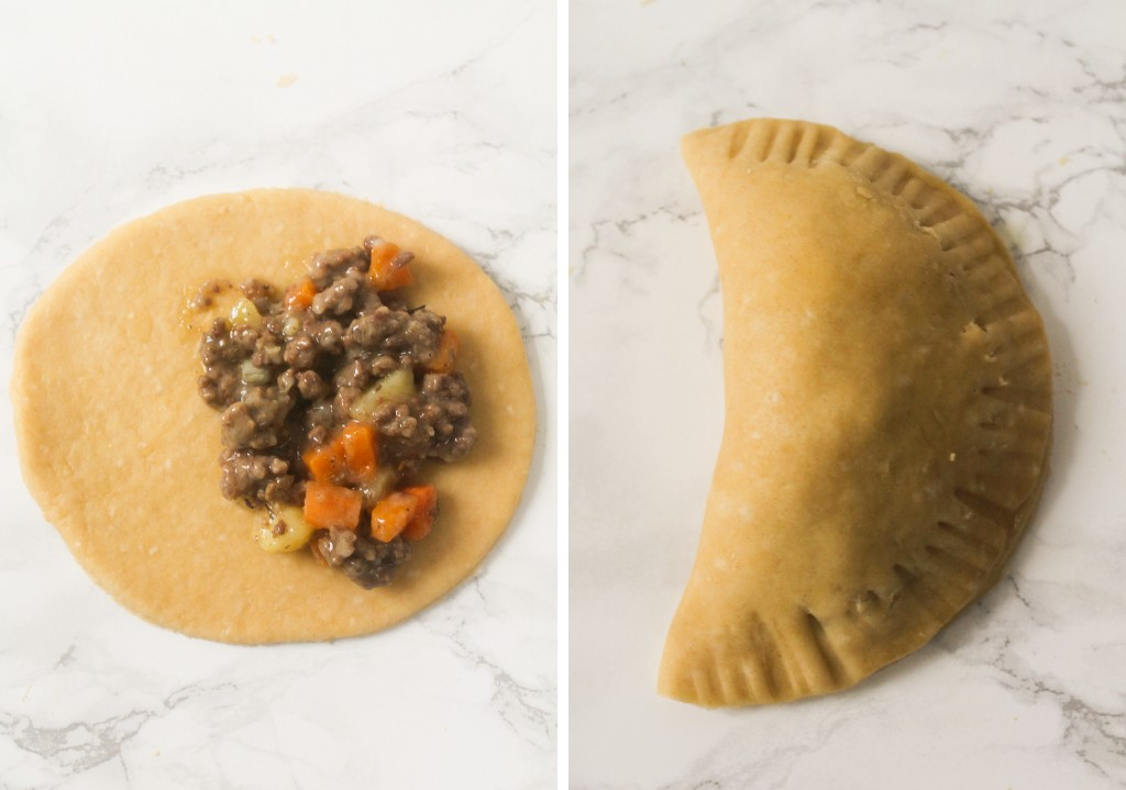 pastry with minced beef filling