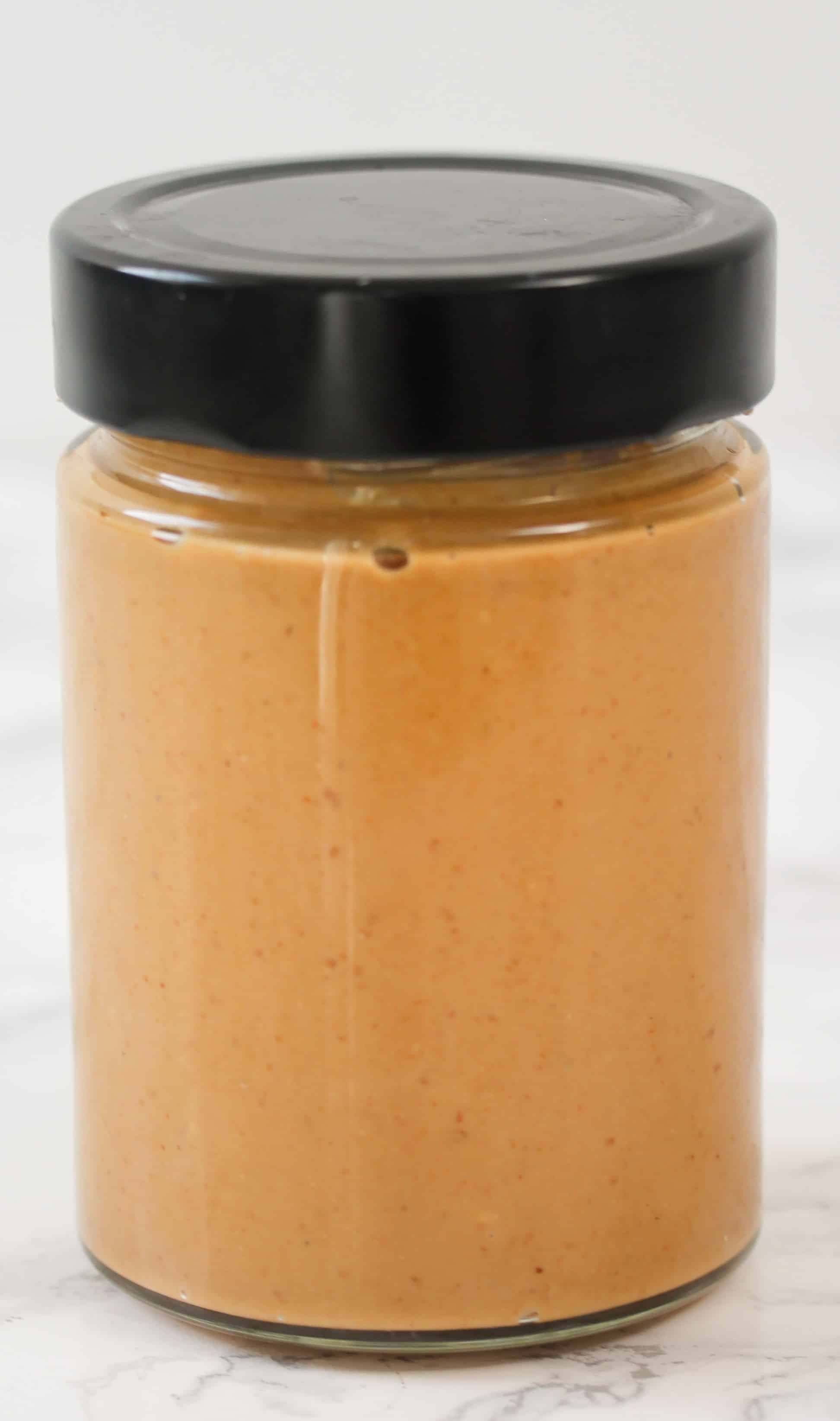 cashew butter in a jar