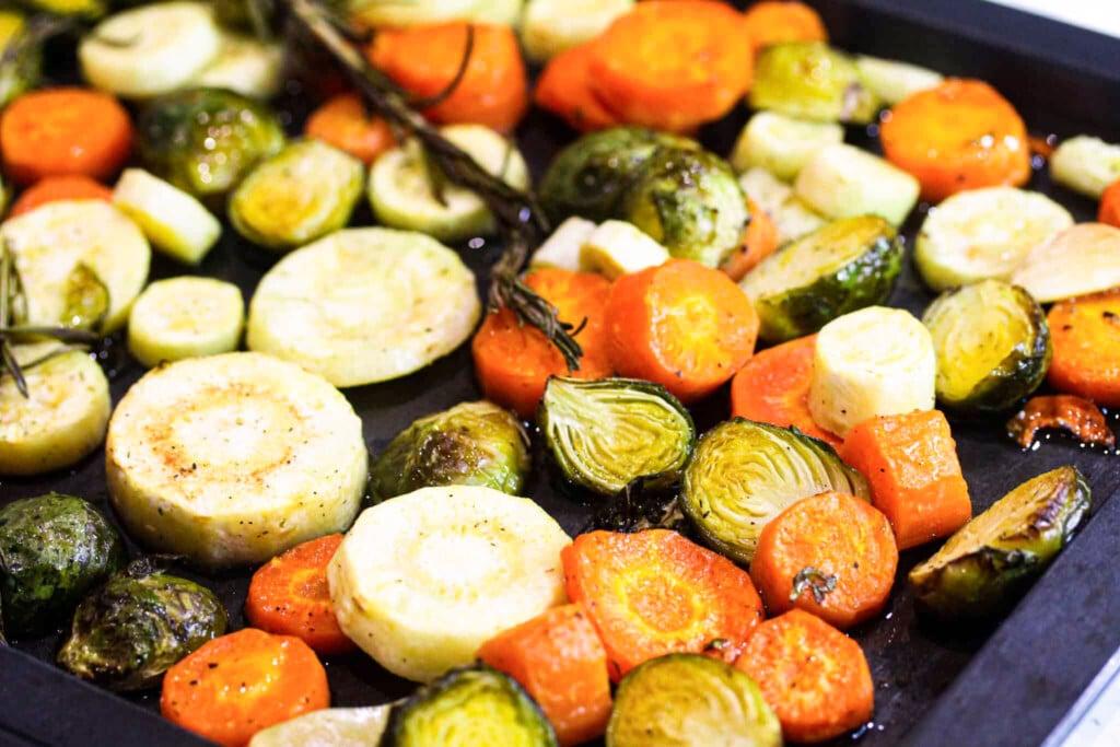 roast Christmas vegetables