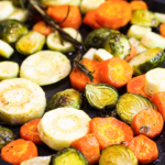 Roasted Carrots, Parsnips and Brussels Sprouts