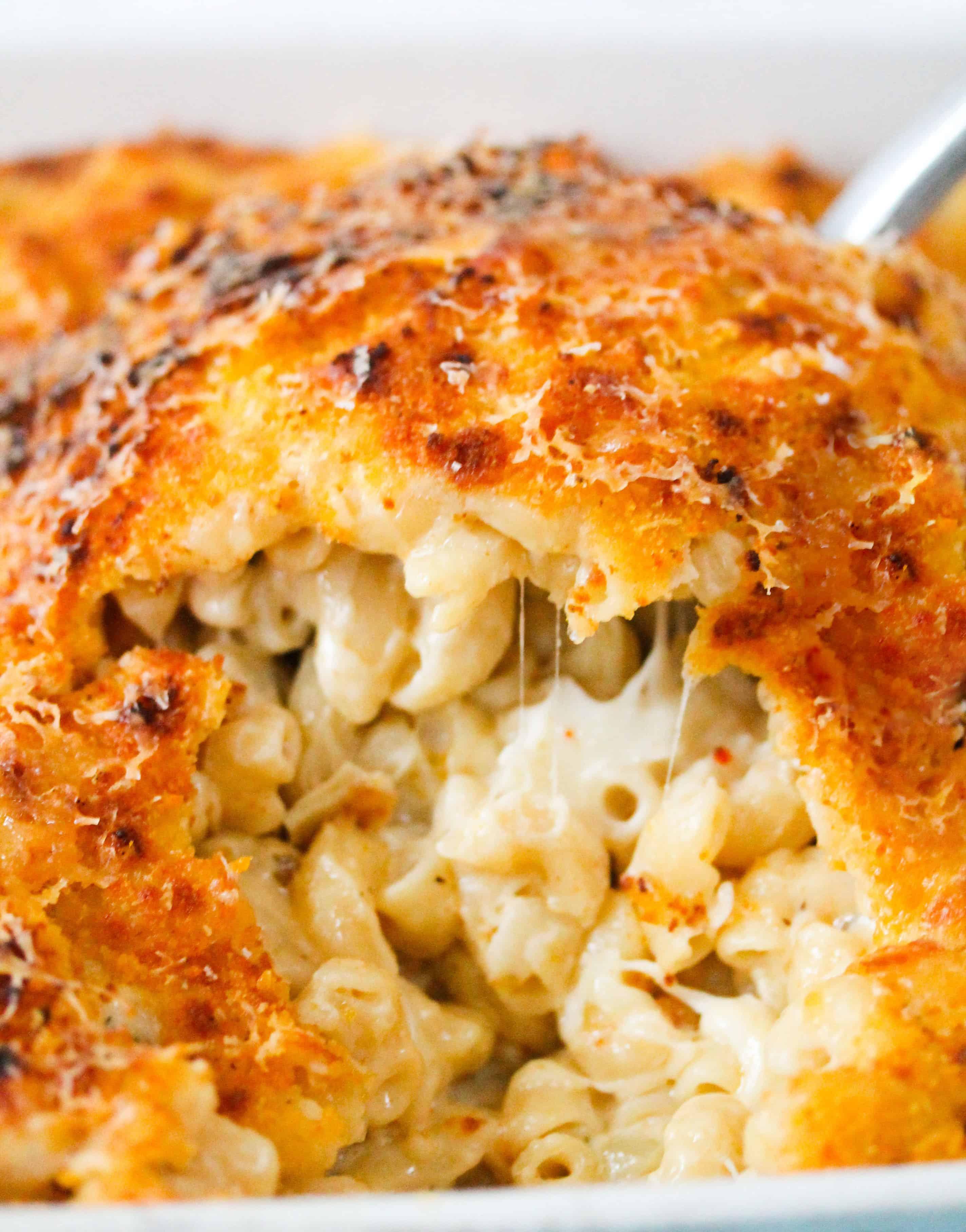 5-cheese mac n' cheese close up