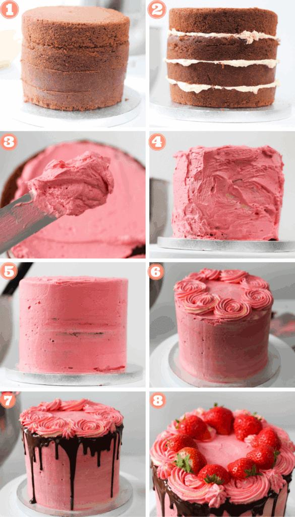 Chocolate-strawberry-cake-decoration