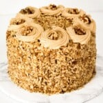 Easy Coffee and Walnut Cake