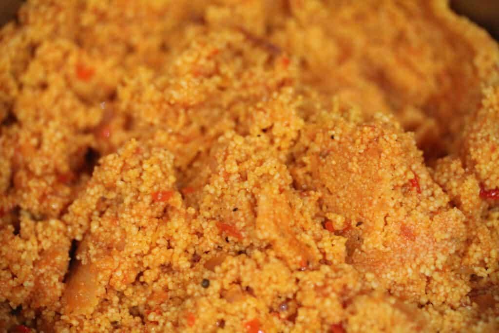 Stir couscous and tomato mixture