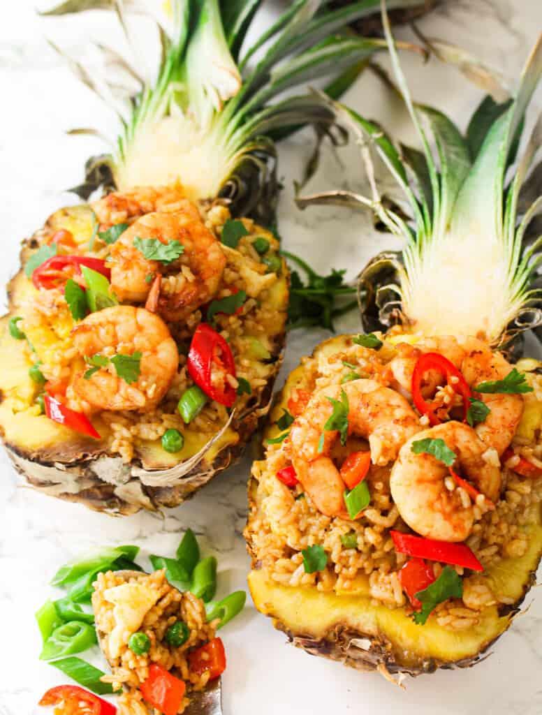 shrimp Thai pineapple fried rice