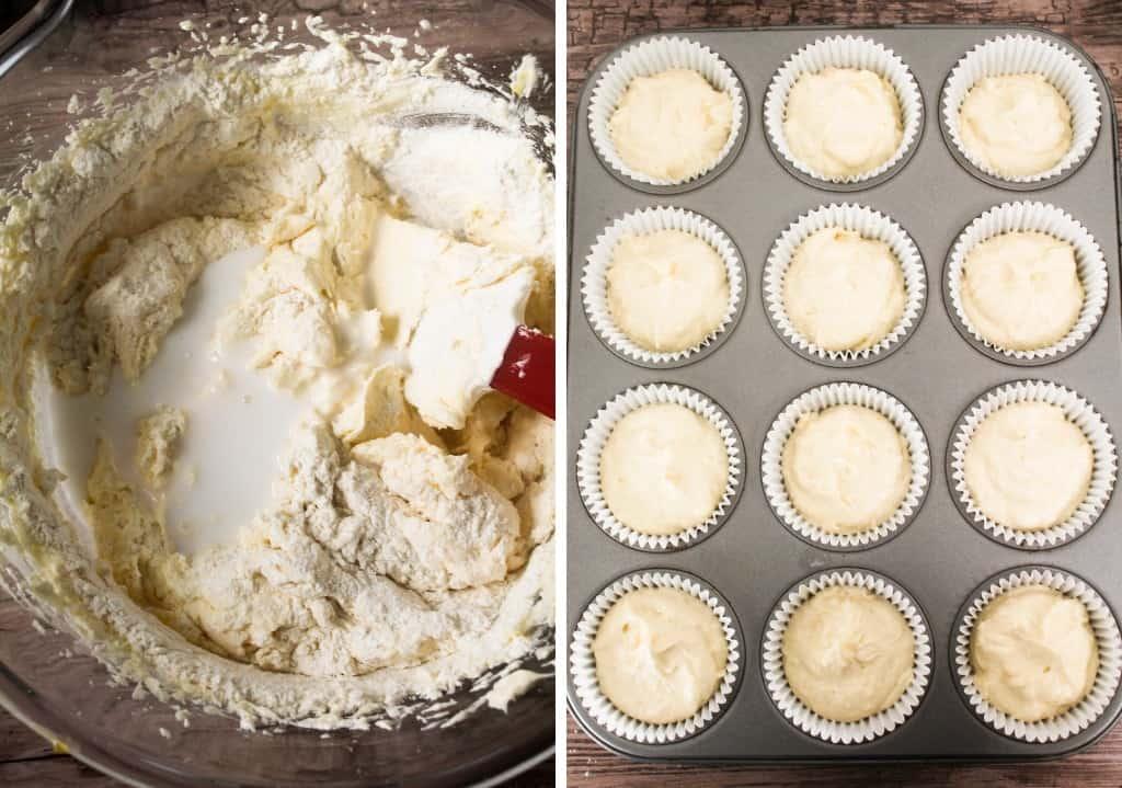 Coconut cupcake batter