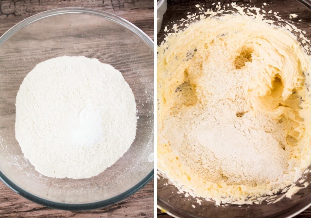 dry coconut cupcake ingredients and wet ingredients
