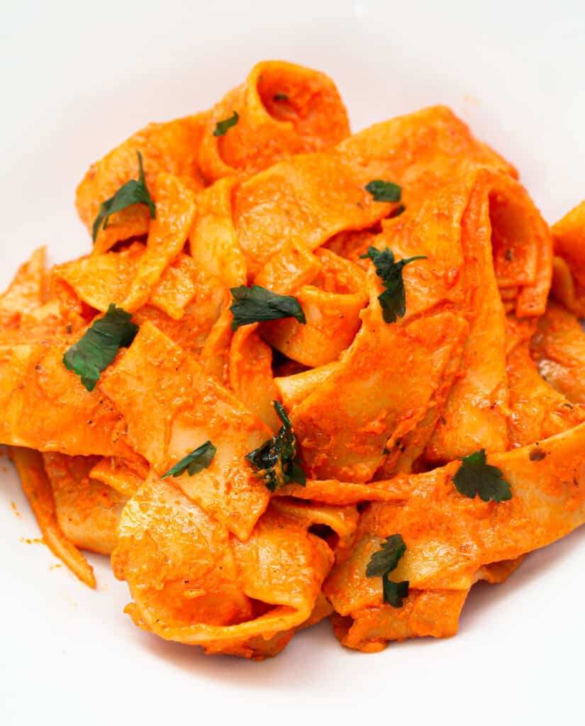 pappardelle pasta in a plate