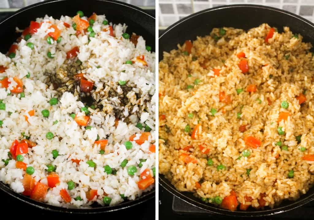 pineapple fried rice with sauce