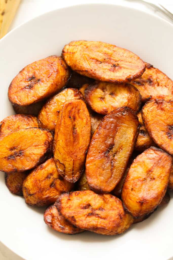plantain in a plate fried