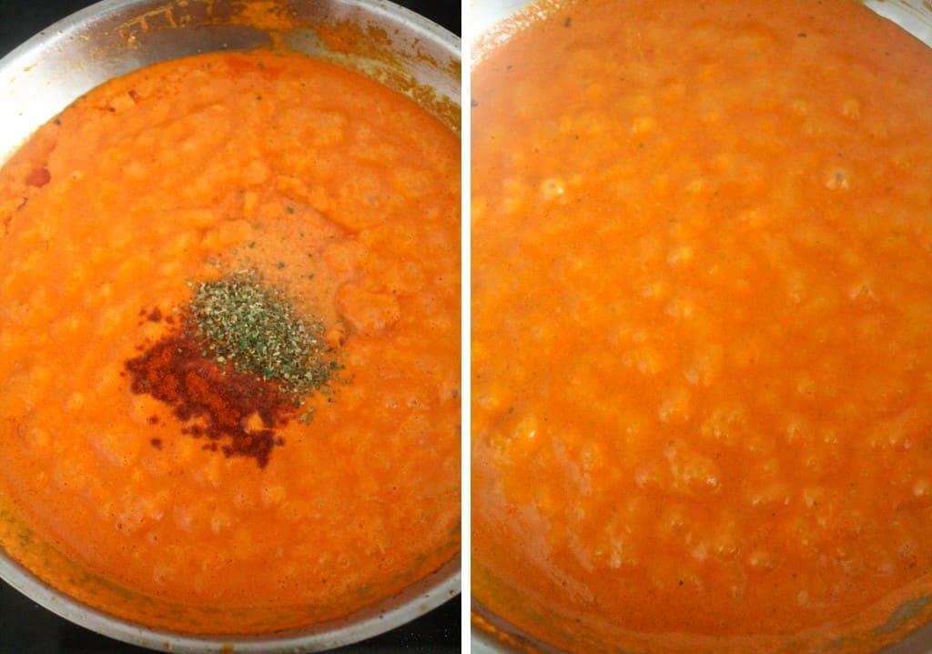 seasoned red pepper mixture