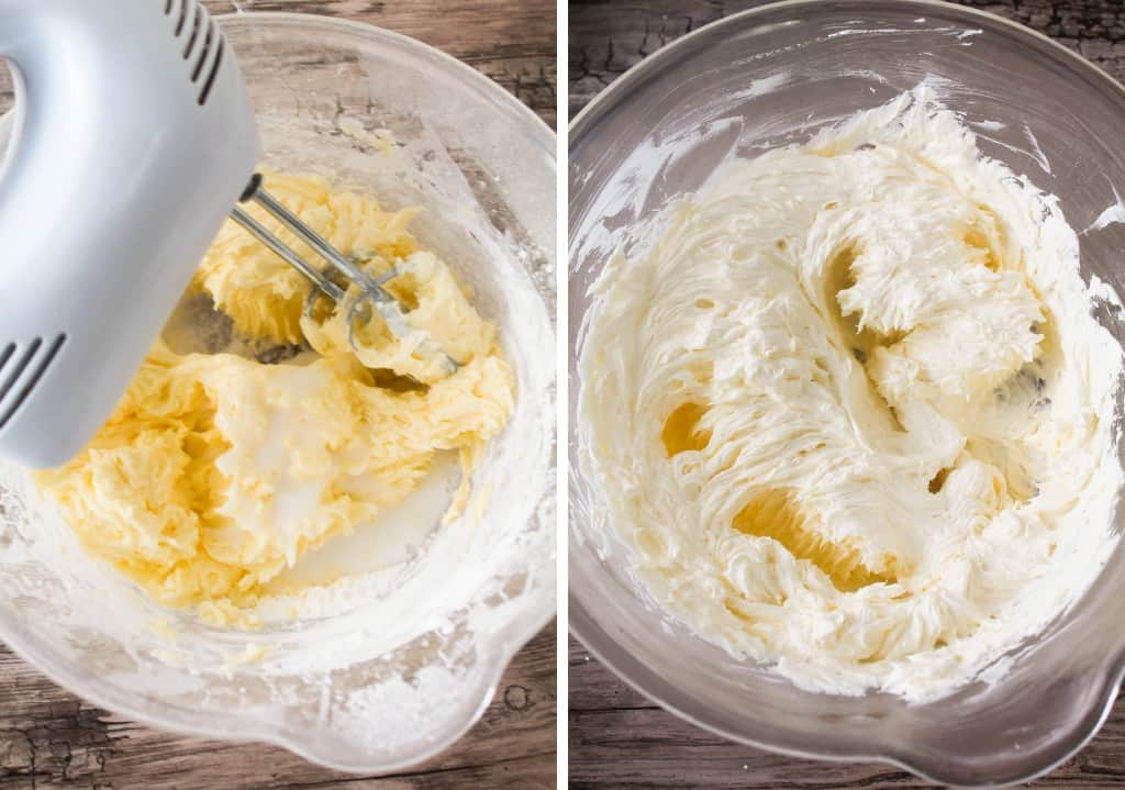 unsalted butter, icing sugar and coconut cream